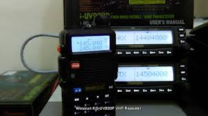 Radio Repeater Circuit Diagram Wouxun Kg Uv920p Vhf Repeater System Youtube