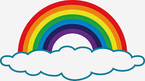 black and white rainbow outline free clipart images cliparting com