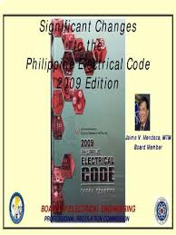 significant changes to the philippines electrical code 2009