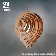 Creative Lighting Fixtures Nordic Creative Brief Wooden Pendant Lamps Water Drop Shape Living