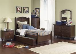 abbott ridge 4 youth bedroom set in cinnamon finish by