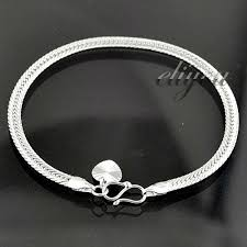 white gold ladies bracelet images Free shipping fashion jewelry 4mm women girls heart charm womens jpg