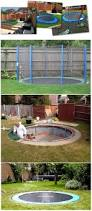 backyards splendid safe and cool a sunken trampoline for kids 19