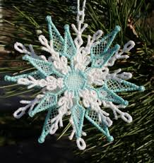 keeping it simple embroidered lace snowflake ornaments
