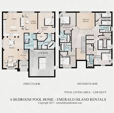 emerald island 6 bed vacation villa floor plan