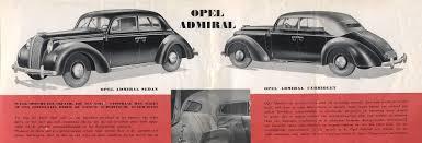 opel admiral opel admiral 1937