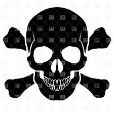 spooky symbols skull and bones danger warning symbol vector image 6935 u2013 rfclipart
