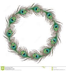 peacock feather stock illustration illustration of border