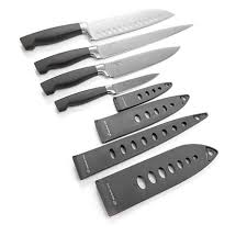 wolfgang puck 8 piece stainless steel knife set 8433833 hsn