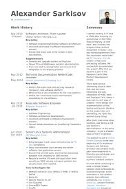 Leadership Resume Template Software Architect Resume Samples Visualcv Resume Samples Database