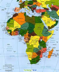 Sub Saharan Africa Map by Africa Map With Countries