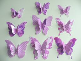 3D Purple Butterfly Wall Decor — Home Designs Insight 3D Wall