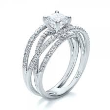 band engagement ring custom two tone and marquise engagement ring 100620