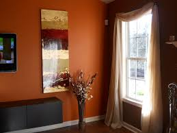 Colors For Dining Room Walls Living Room Chocolate Brown Walls With Copper Orange Accent Wall