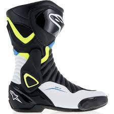 white motorbike boots alpinestars smx 6 v2 black red fluo white motorcycle boots smx 6 v