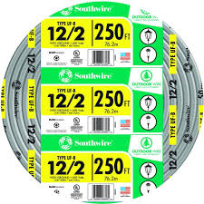 Southwire In Wall Digital 7 by Southwire 250 Ft 12 2 Gray Solid Cu Uf B W G Wire 13055955 The