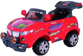 jeep cars red amazon com best ride on cars 631r 6v kids thunder suv red