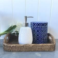 White Ceramic Soap DispenserDotty Bathroom Soap PumpLiquid Soap - Bathroom liquid soap dispenser