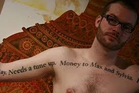 tattooed notes unique tattoo designs unique tattoos and
