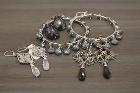 Sparkly Chandelier Earrings Sterling Silver