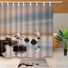 online get cheap shower curtains sets aliexpress com alibaba group flamingo bed bath shower curtain sets waterproof fabric with 12 hooks wts036 china mainland