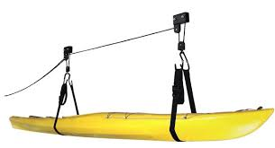 How To Build Garage Storage Lift by Cartman Kayak Hoist Lift Garage Storage Canoe Hoists 125 Pound