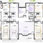 triplex home plans house architecture plans 40799