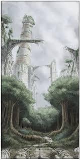 sketch of cyberpunk ruins by icyymir on deviantart