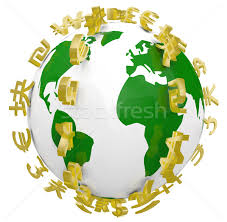 global world currency symbols around world stock photo iqoncept
