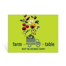 from farm to table creative and colorful local foods poster farm to table poster