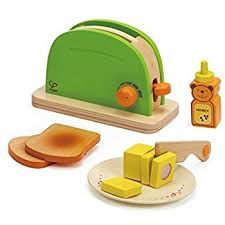 Toaster With Egg Maker Amazon Com Hape Mighty Mixer Wooden Play Kitchen Set With