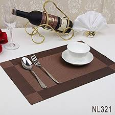 amazon com set of 6 rectangle dining room placemats for table
