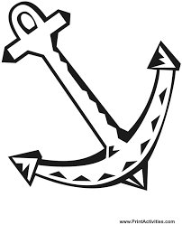Coloring Pages Of Boat Coloring Page Anchor 3 by Coloring Pages Of