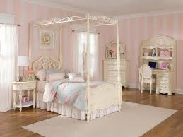 bedroom fair bedroom decoration using white wood canopy