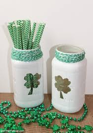 st patrick s day home decorations green with decor u2013 a st patrick u0027s day craft with mason jars