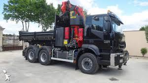 siege iveco iveco trakker tipper truck ad 720 t 45 t diesel 6 crane
