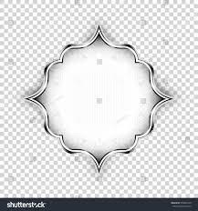 vector silver shape decorative design stock vector 376864126