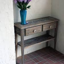 tile table top makeover rustic style foyer makeover with small natural wood entry table and