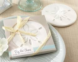 coaster favors sand dollar coaster and nautical wedding favors by kate aspen