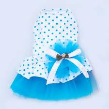 stretchy ribbon i pet floral princess cat party dress small dog tutu gown