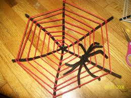 halloween pipe cleaner spider web craft preschool education for kids