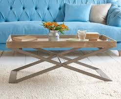 cross leg coffee table tray bon coffee table reclaimed butlers tray table loaf