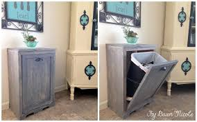 pull out trash can for 12 inch cabinet wood tilt out trash can cabinet dawn nicole designs