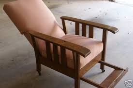 antique oak morris recliner chair great condition 25100571