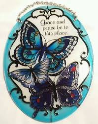 joan baker designs blue butterflies grace and peace be to this
