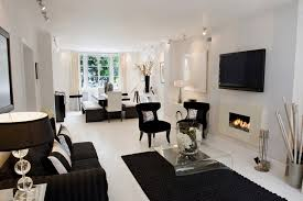 Living Room Ideas With Black Furniture Black And White Living Room Interior Design Ideas Black And White