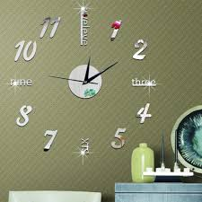 funlife typography wall art stickers clock wall decals
