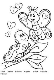 numbers coloring pages kindergarten butterfly with flowers coloring pages silly butterfly coloring