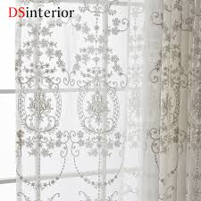 aliexpress com buy dsinterior white embroidered curtains sheer