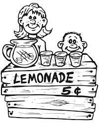 printable summer coloring lemonade stand